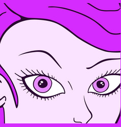 purple woman vector image