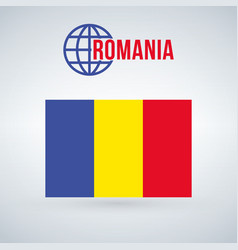 romania flag isolated on modern background with vector image