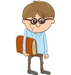 School boy cartoon vector