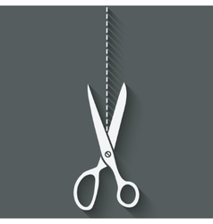 scissors cut symbol vector image