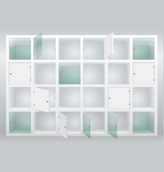 Shelves and drawers vector