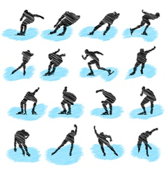 skating sketch vector image