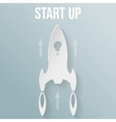 Startup concept with rocket vector image