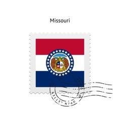 State of Missouri flag postage stamp vector
