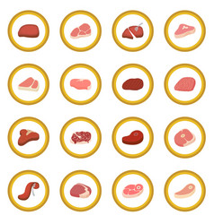 Steak icon circle vector
