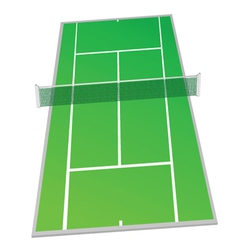 Tennis court green color vector