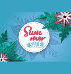 tropical summer sale vector image