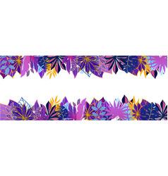 ultraviolet exotic hawaiian tropical leaves vector image