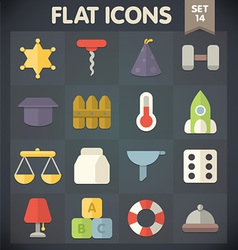 Universal flat icons for web and mobile applicatio vector
