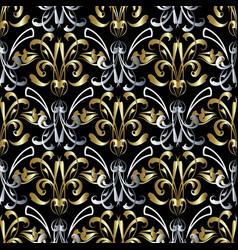 Vintage damask baroque seamless pattern vector