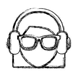 Woman avatar icon vector