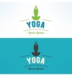 yoga lotus asana logo Meditation and vector image