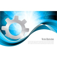 background with gear vector image