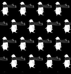 cartoon bear seamless pattern vector image