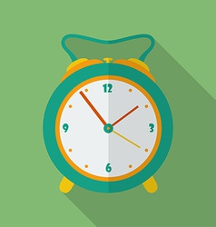 Classic alarm clock icon modern flat style with a vector
