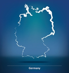 Doodle Map of Germany vector image