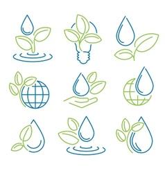 Ecology symbol set Eco-icons vector image