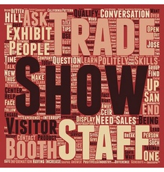 Increase Sales At Your Trade Show Booth text vector image vector image