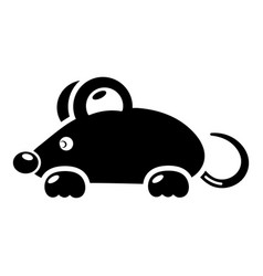 Mouse icon simple black style vector
