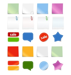 paper stickers vector image