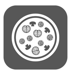 The pizza icon Fast food and baking symbol Flat vector image vector image