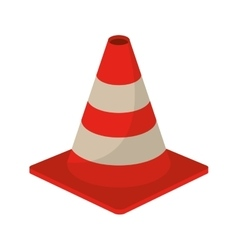 traffic cone warning sign design vector image vector image