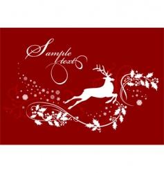 christmas deer vector image vector image