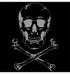 Skull and crossbones 2 vector image