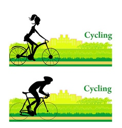 Cycling Poster vector image