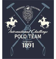 horseback polo sport international challenge vector image