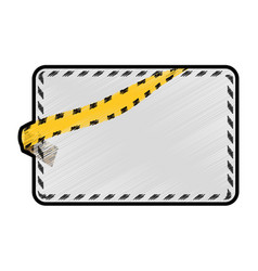 police yellow tape vector image vector image