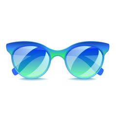 blue sunglasses isolated on white vector image