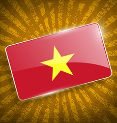 Flag of Vietnam with old texture vector image