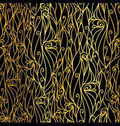 golden black abstract scrolls swirls vector image
