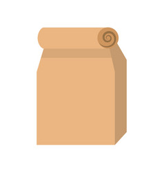 lunch bag in paper bag vector image vector image