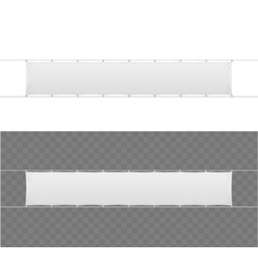 Realistic Blank Banner Textile Set vector image