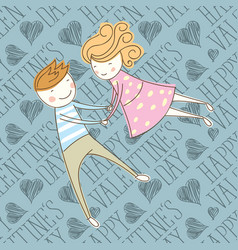 seamless card with couple 16 converted vector image