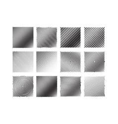 12 black and white stripe patterns set vector image