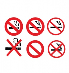 2008185 no smoking sign 3 vector image