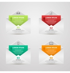 Abstract paper envelope infographics number vector