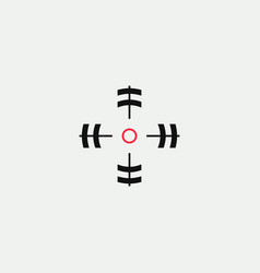 aim linear stylized icon goal abstract vector image