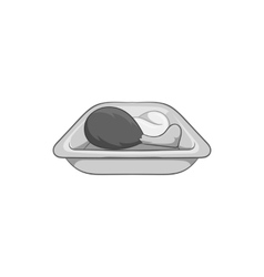Airline food icon black monochrome style vector