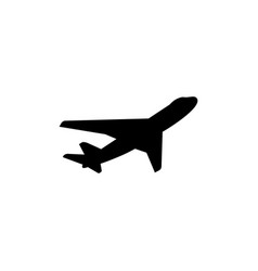 airplane icon in flat style for apps ui websites vector image