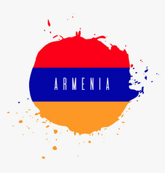 Armenia watercolor national country flag icon vector