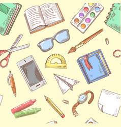 Back to school background education hand drawn vector
