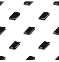 Black book icon in black style isolated on white vector