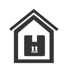 Box house delivery vector