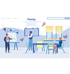business planning and time management with people vector image