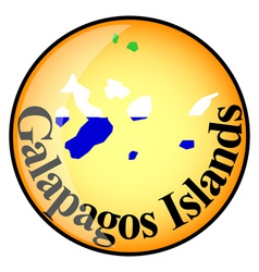 Button Galapagos Islands vector
