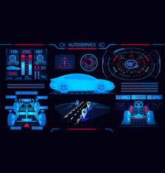 car service gui diagnostic alignment wheels vector image